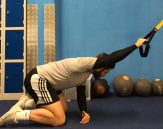 Stretching the Lats with a band or TRX