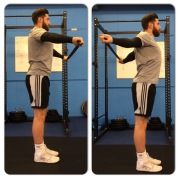 Overhead shoulder mobility with band